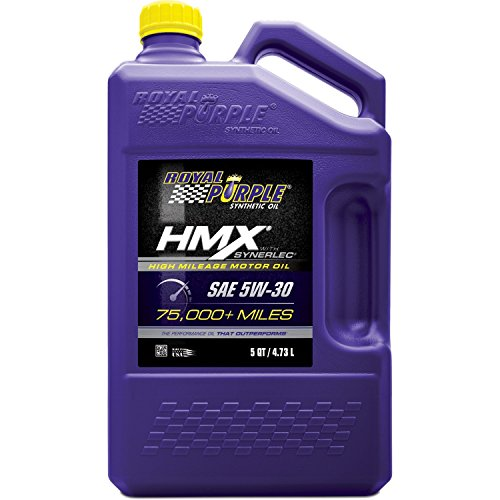 Price comparison product image Royal Purple ROY11748 HMX SAE 5W-30 High-Mileage Synthetic Motor Oil - 5 qt.