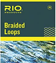 Rio Fly Fishing Braided Loops Orange Lines 3-6 4 Pack Fly Tying Equipment, Clear, Regular