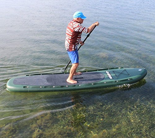 Saturn 11 39 inflatable pro angler fishing sup paddle board for Inflatable fishing sup