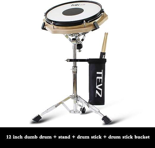 ZHXY Caja sorda Caja sorda percusión Set de Pad de ensayo Practice Pad 12