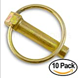 Linch Pin with Ring 13/32'' x 1-3/4 Inch (Pack of 10)