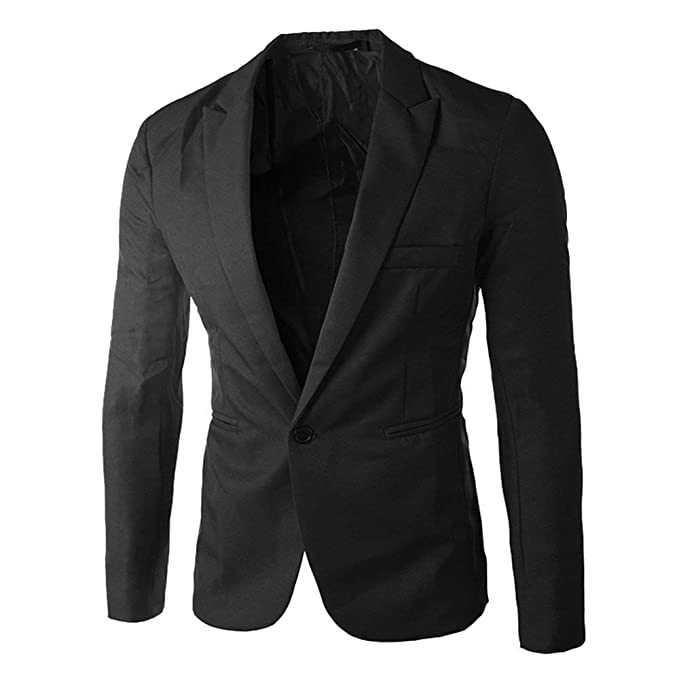 Blazer Blazer De Los Hombres Chaqueta De Negocios Esencial Casual De Negocios Traje Slim Fit Prendas De Vestir Exteriores De Color Sólido Hombres: ...