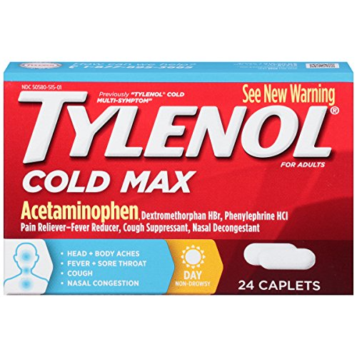 Tylenol Daytime Cold Multi Symptom Caplets  24 Count
