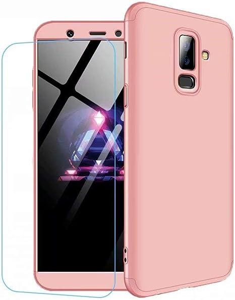 Funda Samsung Galaxy J4 2018 Ttimao PC Hard Case [Película de Cristal Templada] Anti-Shock Ultrafino 360 ° Caja Protección Tres en Uno Cubierta Protectora (Oro Rosa): Amazon.es: Electrónica