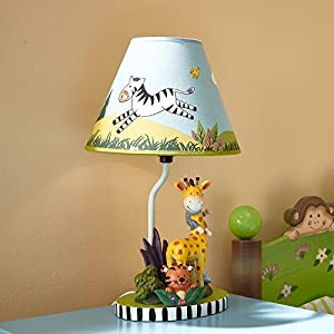 Fantasy Fields – Sunny Safari Animals Thematic Kids Table Lamp – Imagination Inspiring Hand Painted Details & Lead-Free…