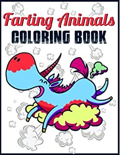 Farting Coloring Book Animals Funny Dog Cat Bear