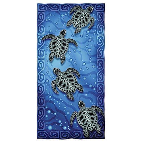 Tribal Sea Turtles Cotton Beach Towel ()