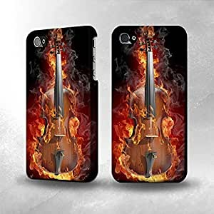 Apple iPhone 5/5S Case - The Best 3D Full Wrap iPhone Case - Fire Violin