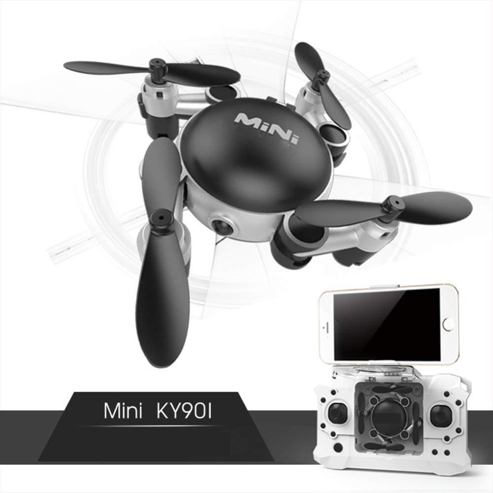 ASQXYFCT Velivolo Aereo a Distanza di Deformazione di Altezza del Drone Aereo a Quattro Assi di WiFi del Velivolo Miniatura Pieghevole di Piegatura,Nero,WRJ