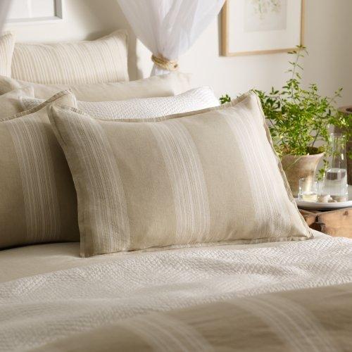(Ralph Lauren Modern Naturals Large Stripe Pillow Sham - Cream / Sand - Standard Size)