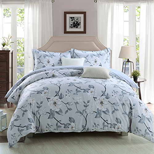 GOOFUN-D3Q 3pcs Duvet Cover Set(1 Duvet Cover + 2 Pillow Shams) Lightweight Polyester microfiber Well Designed Print Pattern - Comfortable, Breathable, Soft & Extremely Durable, Full Queen (Duvet Sham)