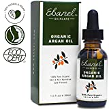 Ebanel 1oz/30ml Organic Moroccan Argan Oil, 100% Pure Natural Cold Pressed Hair Oil and Face Skin Moisturizer for Dry Frizzy Hair, Anti-Aging, Skin Hydration Non-Oily Treatment for Men & Women