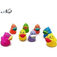 Negi 8 Piece Toddler Baby Bathtub Chu Chu Squeeze Bath Toys Non-Toxic BPA Free, Duck chu chu, Duck Squeeze Bath Toys (8 Piece Duck Squeeze Bath Toys)