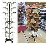 Fanala Rotating Hat Display Rack Free Standing Cap Hat Rack Tower for Retail Merchandising Home Office US Stock