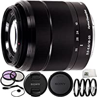 Sony E-Mount SEL 1855 18-55mm f/3.5-5.6 Zoom Lens for Alpha NEX Cameras (Black) International Version (No Warranty) (White Box) Includes Manufacturer Accessories + 12PC Accessory Kit