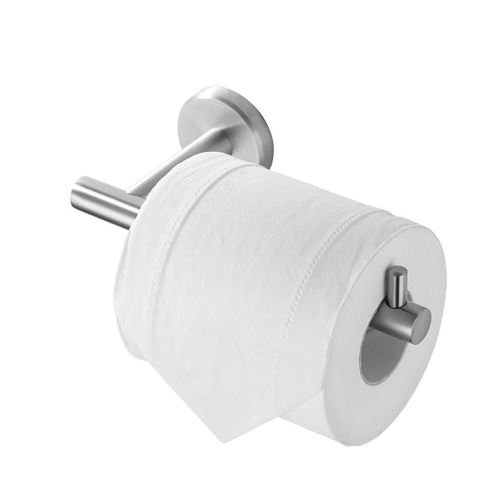 JQK Toilet Paper Holder, 5 Inch 304 Stainless Steel Tissue Paper Dispenser, Brushed Nickel Wall Mount