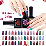 Coscelia Pick Any 4 Colors UV Gel Nail Polish Nail Art Home Salon Set