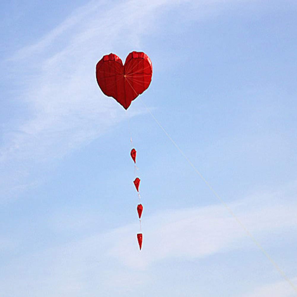 ハート型 大 簡単 チラシ 凧 理想的 にとって キッズ そして 大人 簡単 に 起動する に 固い 風 または 柔らかい 風 建てた 最後まで - すばらしいです にとって 家族 楽しい アウトドア,28wheel1000Mline B07RXWSK6M  28wheel1000Mline