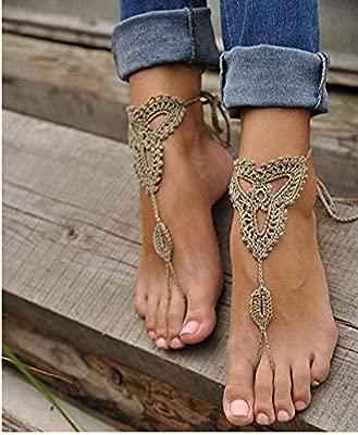 Sandalias descalzas, Beach Pool, zapatos, joyas Desnudos ...