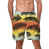NUWFOR Men Casual 3D Graffiti Printed Beach Work Casual Men Short Trouser Shorts Pants(Z5-Multi Color,US:S Waist26.0-29.9'')
