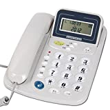 CHX Wall-mounted Telephone Home Seated Cable Office Fixed Telephone Landline (Color : White, Size : L217MMW127MM)