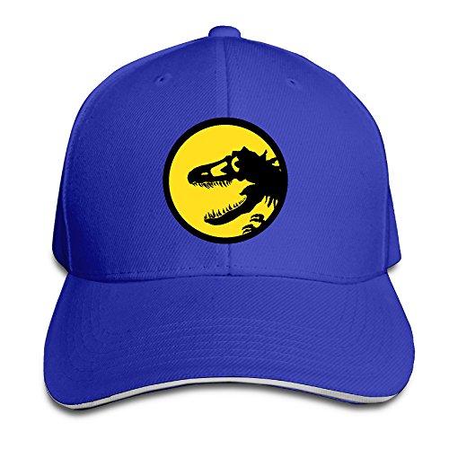 ACMIRAN Dinosaur Logo Fashion Sandwich Baseball Caps One Size RoyalBlue