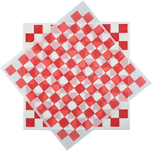 (Deli Squares - Wax Paper Sheets (12 x 12) (Pack of 100) (Checkered)