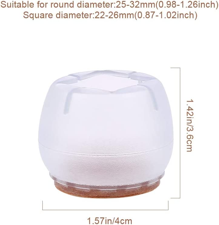 25-32mm atnight Chair Leg Caps,Round Anti-slip Furniture Feet Pads Table Cover Floor Scratches Protectors,Suitable for Round Leg