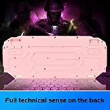 Pink Gaming Keyboard and Mouse Combo,MageGee GK710