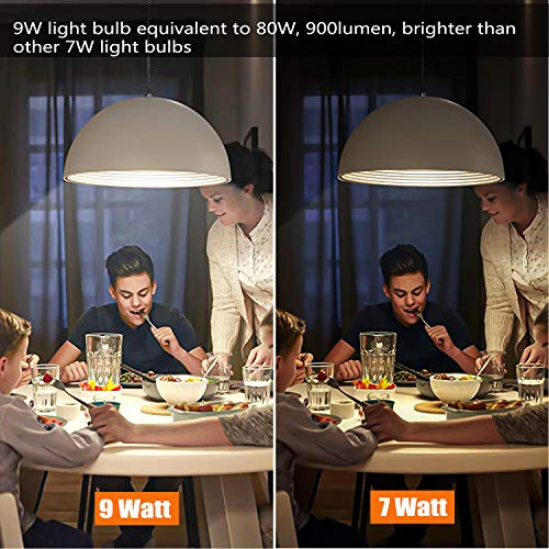 Smart WiFi Light Bulb,Works with Alexa,Google Home Compatible,9W 900lm(80W Equivalent),No Hub Required,RGBCW Color Changing,2700K-6500K Dimmable,A19 E26 Base,2.4G WiFi Only, 4Pack by Boxlood