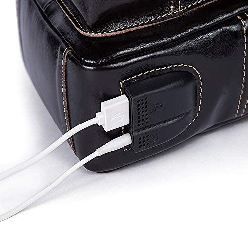 Réalimentation foncé des Poitrine ZWS La Cartable USB Paquet De Hommes marron xnYTPqvWw