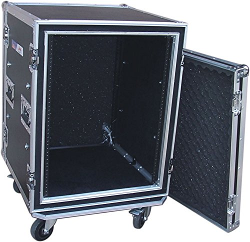 Audio Dynamics Pro 14U Space DJ ATA Shock-Proof AMP Rack Flight Road Case For 19-Inch Rack - 20'' Inside Depth - With Heavy-Duty Wheel Casters by Audio Dynamics