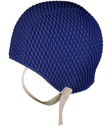 37fe5c87782 Fine Saratoga Swimming Hat With Chin Strap Ladies Vintage Style Bathing Cap  Black Turquoise Navy Blue Red Yellow Orange (Navy Blue)