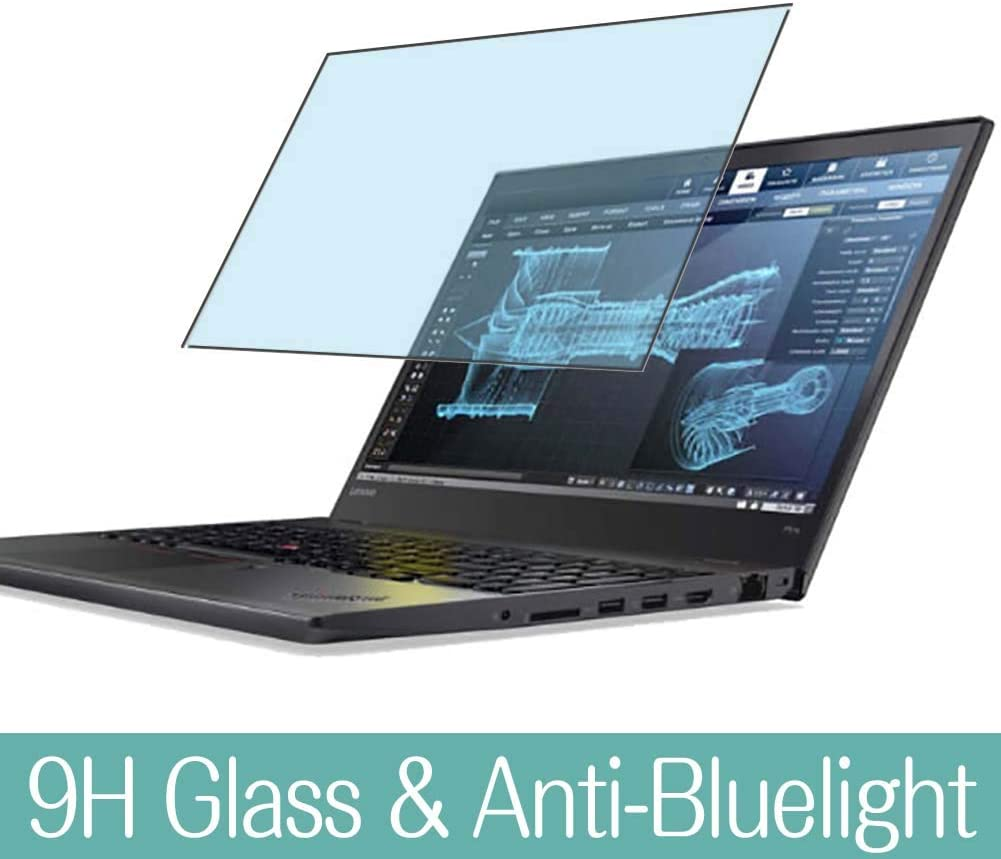 """Synvy Anti Blue Light Tempered Glass Screen Protector for Lenovo ThinkPad P51s 2017 15.6"""" Visible Area 9H Protective Screen Film Protectors"""