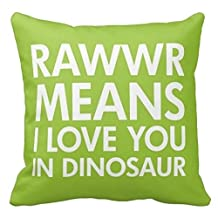 Vincent Vivi Wet Rawr Means I Love You In Dinosaur Pillow Case For Kids
