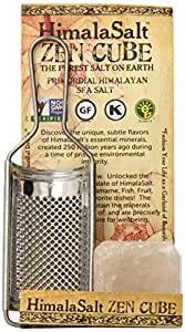 HimalaSalt, Zen Cube with Stainless Grater, 11 Ounce