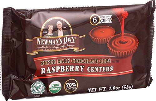 Newman's Own Organics - Super Dark Chocolate Cups with Raspberry Centers - 1.9 oz.