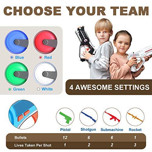 Veken Laser Tag Set with 4 Pack Infrared Laser Tag Guns 2 Robot Bug 1 Carrying Case for Kids Multiplayer Indoor Outdoor Game - Infrared 0.9Mw by Veken (Image #2)