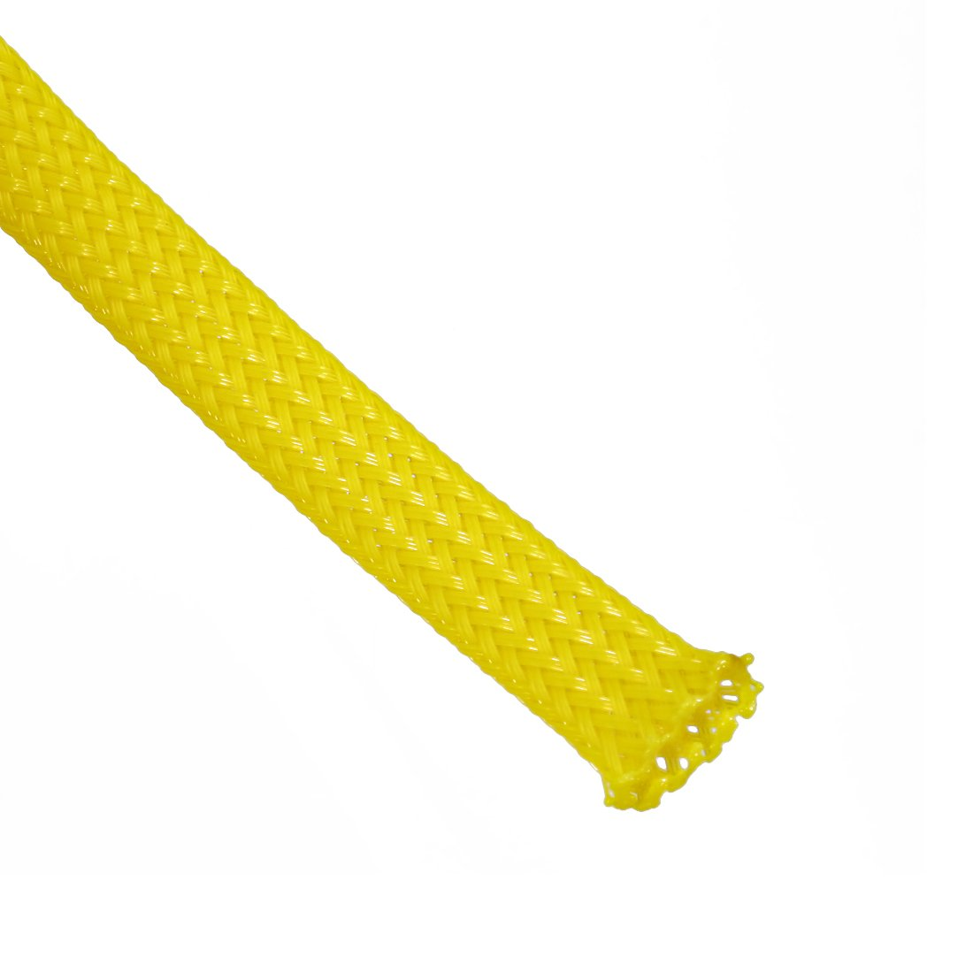 sourcing map 16.4ft 5m PET Expandable Sleeving 6mm Cable Management Sleeve Cord Organizer for Wrap Protect Cables Yellow