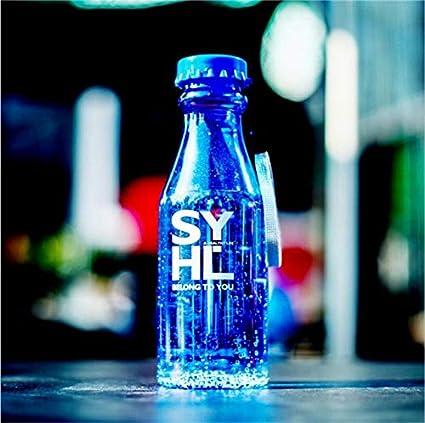 Nueva Botella de Agua de Viaje Deportivo de 550 ml Botellas de plástico irrompibles a Prueba de Fugas portátiles para Bicicletas Correr al Aire Libre Camping - A1 Azul