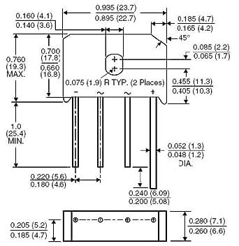 Bridge Rectifiers 25 Amp 200 Volt 5