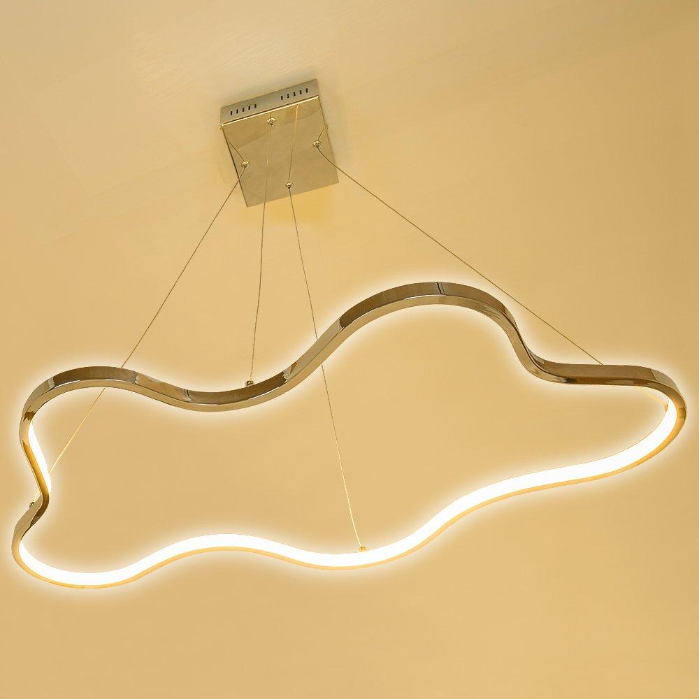 Lu MiR LED Pendelleuchte Hhenverstellbar Kchen Deckenleuchte Wohnzimmer Designleuchte Deckenlampe Schlafzimmer Modern Sunset Riyal Amazonde