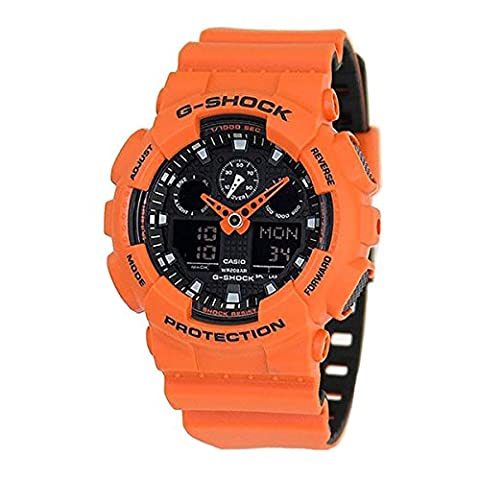 G-Shock GA-100 Military Series Watches - Orange / One Size (The Hundreds G Shock)
