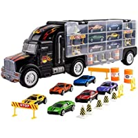 Toy Truck Transport Car Carrier Toy for Boys and Girls...