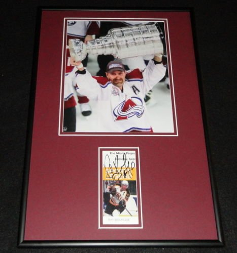 Ray Bourque Signed Framed 12x18 Photo Display JSA Avalanche Stanley (Ray Bourque Framed)