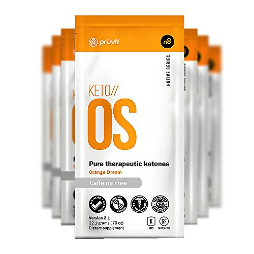 Pruvit KETO//OS Orange Dream 2.1 No Caffeine, BHB Salts Ketogenic Supplement - Beta Hydroxybutyrates Exogenous Ketones for Fat Loss, Workout Energy Boost and Weight Management through Fast Ketosis, 5 Sachets
