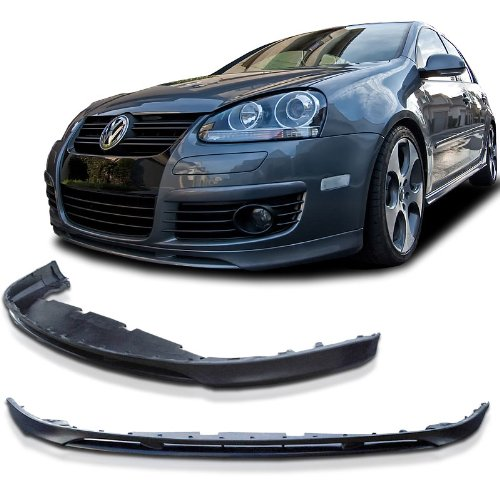 Gti Front Lip (Volkswagen VW Golf 5 GTi V Style Urethane Front Bumper Lip Chin Spoiler For 06-09 Models)