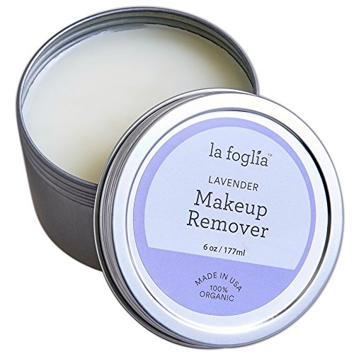 La Foglia Lavender Makeup Remover Made In USA 100 Organic Lavender Makeup Removal and Face, Body Cream With Pure all Natural Ingredients – 6 Ounces