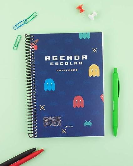 Casterli - Agenda Escolar 2019-2020 Have Fun - Día Página, Tamaño A5 (Pacman)
