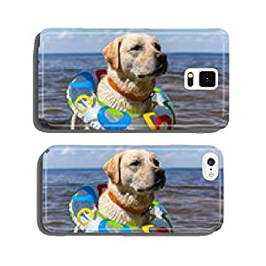 Labrador bathing in the river, spray stick team jump cell phone cover case iPhone6 Plus